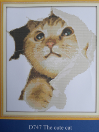 Cross Stitch / The cute cat