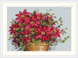 Borduurpakket Poinsettia - Merejka    mer-k132