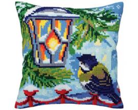 Kussen borduurpakket Before Christmas - Collection d'Art    cda-5352