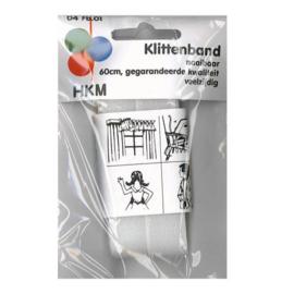 Klittenband naaibaar 60 cm / wit