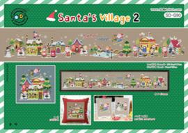 Borduurpakket Santa's Village 2 - The Stitch Company    tsck-sog090