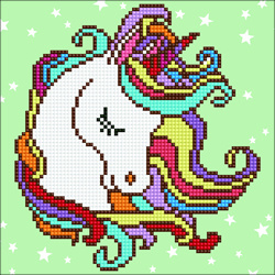 Diamond Art Fun Unicorn - Leisure Arts    la-da01-49291