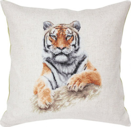 Borduurpakket Pillow Tiger - Luca-S    ls-pb131