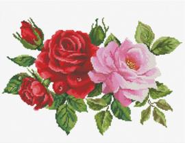 Voorbedrukt borduurpakket Rose Bouquet - Needleart World    nw-nc440-093