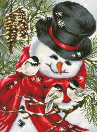 Sneeuwpop met Vogeltjes
