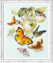 Borduurpakket Butterflies and Apples - Chudo Igla    ci-130-052