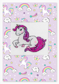 Borduurpakket Postcard Unicorn - Luca-S    ls-sp080