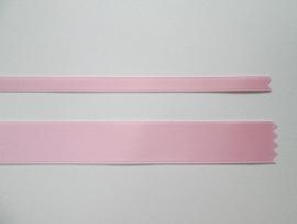 Satijnlint satin double face Deluxe  6 mm en 16 mm roze 225
