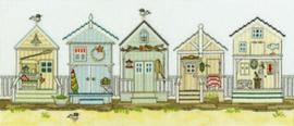 Borduurpakket Sally Swannell - New England: Beach Huts - Bothy Threads    bt-xss07