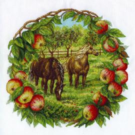 Borduurpakket Apples and Horses - PANNA    pan-1453-j