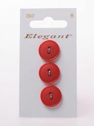 Knopen Elegant - Rood / 393