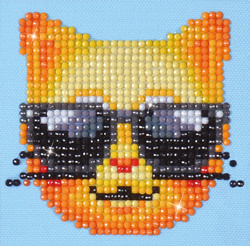 Diamond Dotz Kool Kat - Needleart World    nw-dd01-010