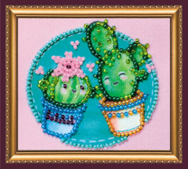 Kralen borduurpakket Little Cacti - Abris Art    aa-ama-188