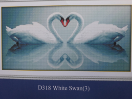 Cross Stitch / White swan