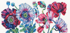 Borduurpakket Purple Poppies - RTO    rto-m00604