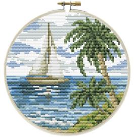 Voorbedrukt borduurpakket Sailing Away - Needleart World    nw-nc240-066