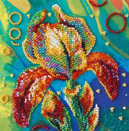 Kralen borduurpakket Multicolored Iris - Abris Art    aa-am-203