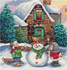 Borduurpakket Winter Scene - PANNA