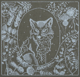 Borduurpakket White Lace - Fox - PANNA    pan-1950-j