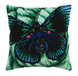 Kussen borduurpakket Butterfly - Collection d'Art    cda-5309