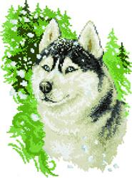 Diamond Painting Husky - Freyja Crystal    fc-alvr-016-062
