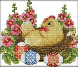 Cross Stitch / Hen and eggs