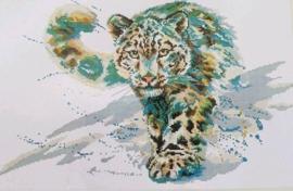 Cross Stitch / Snow leopard