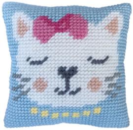 Kussen borduurpakket Kitten Purr - Needleart World  nw-lh03-00