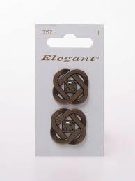 Knopen Elegant - Brons / 757