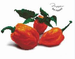 Diamond Dotz Pepper Bon Appetit - Needleart World    nw-dd05-036