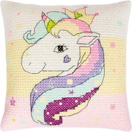 Borduurpakket Pillow Unicorn - Luca-S    ls-pb181