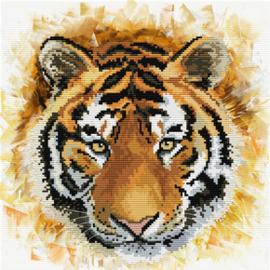 Voorbedrukt borduurpakket Tiger charge - Needleart World    nw-nc450-041