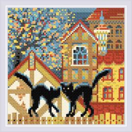 Diamond Mosaic City & Cats Autumn - RIOLIS    ri-am0049