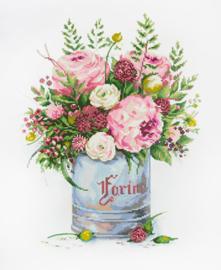 Diamond Painting Watercolour Bouquet - Freyja Crystal    fc-alvr-156