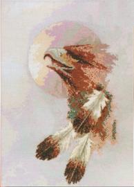 Borduurpakket Eagle Moon - Janlynn    jan-126-0026