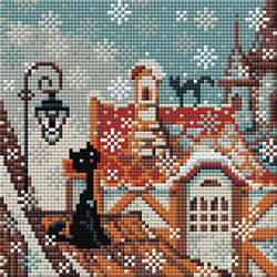 Diamond Mosaic City & Cats Winter - RIOLIS    ri-am0010
