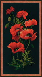 Borduurpakket Poppies - RIOLIS    ri-1057