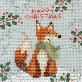 Borduurpakket Xmas Fox - Bothy Threads / Vos
