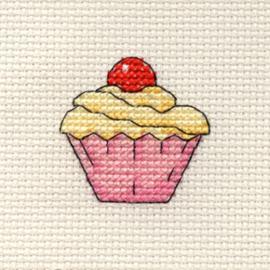 Borduurpakket Cupcake - Mouseloft    ml-004-f01