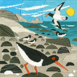 Borduurpakket Matt Johnson - Oyster Catchers - Bothy Threads    bt-ssmj02