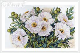 Borduurpakket White Flowers - Merejka    mer-k118