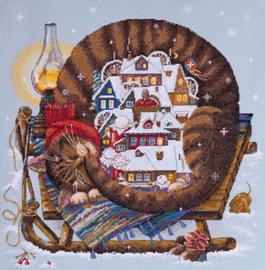 Borduurpakket Cozy Winter - Merejka    mer-k107