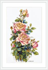 Borduurpakket Yellow Roses - Merejka    mer-k154