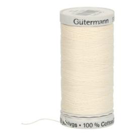 Gutermann naaigaren cotton 30 / 300 meter  1071 / creme