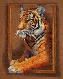 Borduurpakket Tiger - PANNA    pan-0966-j