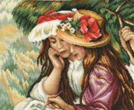 Borduurpakket Drawing Girls - RTO    rto-m00410