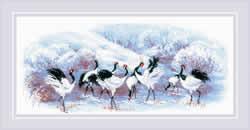Borduurpakket Japanese Cranes - RIOLIS    ri-1806