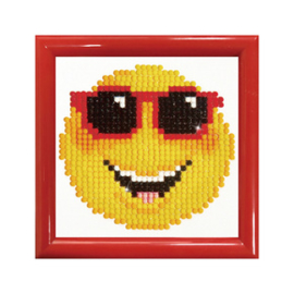 Diamond Dotz Smiling Face with Frame - Needleart World    nw-dd01-009f