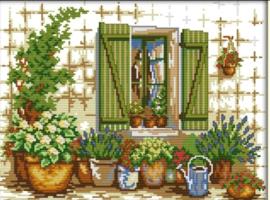 Cross Stitch / Outside the window
