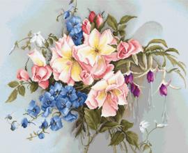 Borduurpakket Bouquet with Bells - Luca-S    ls-ba2362